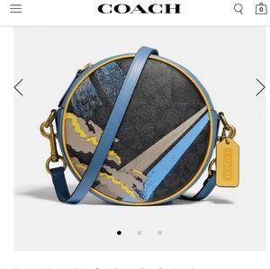 Coach Circle Crossbody In Signature Canvas With Ab